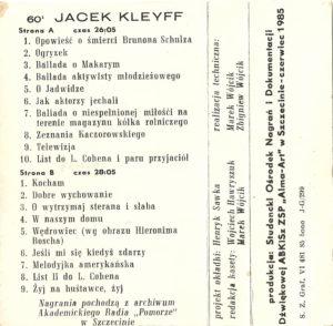 2. Kleyff wewn